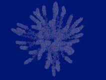 tolkning 3d av en skisserad buskeritning som tillbaka isoleras på blått Royaltyfria Bilder