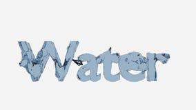 tolkning 3D av en vattentext Royaltyfria Bilder