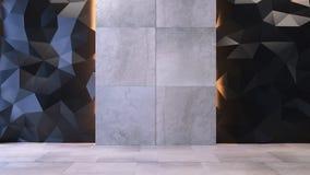 tolkning 3D av ett kontorsutrymme Arkivbild
