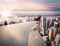 tolkning 3D av flygplan Royaltyfri Bild