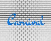 TOLKNING 3D AV karnevalORD Arkivbild