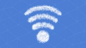tolkning 3D av kommunikationen 5G med trevlig bakgrund Royaltyfri Bild