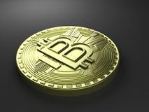 tolkning 3D av myntet Bitcoin stock illustrationer