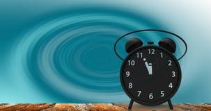 tolkning 3d av ringklockan med små minuter till `-cloc för nolla tolv Arkivfoton