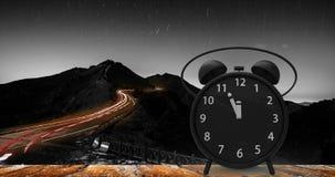 tolkning 3d av ringklockan med små minuter till `-cloc för nolla tolv Royaltyfri Foto