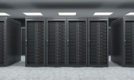 tolkning 3D av serveren för datalagring, att bearbeta och analys Royaltyfri Fotografi