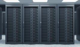 tolkning 3D av serveren för datalagring, att bearbeta och analys Royaltyfri Bild