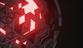 tolkning 3D av sfären med brutna Shell Arkivbild