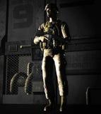 vaktpost för soldat 3d Royaltyfri Fotografi