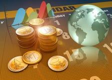 tolkning 3D, finans och investering som begrepp Royaltyfri Bild