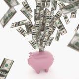 Tolkning för begrepp 3D för ekonomisk rikedom Arkivfoton