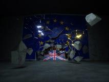 Tolkning för Brexit begrepp 3d Arkivfoto