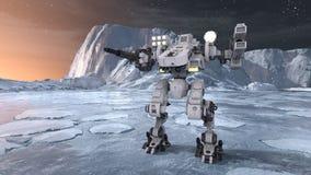 tolkning för 3D CG av roboten stock illustrationer