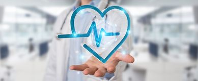 Tolkning för digital manöverenhet 3D för hjärtslag för doktor hållande Arkivfoton