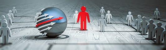 Tolkning för folk 3d för begreppsmålledare Arkivbilder