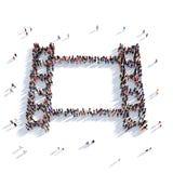 Tolkning för folk 3D för filmremsabio Royaltyfri Foto