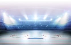 Tolkning för ishockeystadion 3d vektor illustrationer
