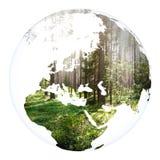 Tolkning för jord 3d för världsbegreppsplanet Arkivfoton
