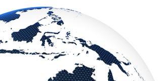 Tolkning för jord 3d för världsbegreppsplanet Royaltyfria Foton