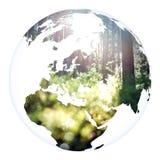 Tolkning för jord 3d för världsbegreppsplanet Fotografering för Bildbyråer