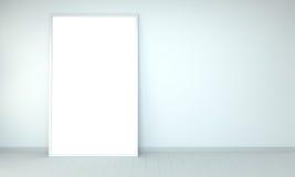 Tolkning för kanfas 3D för vit tom Arkivbilder