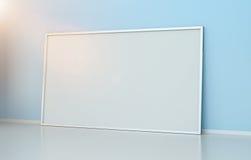 Tolkning för kanfas 3D för vit tom Arkivfoton