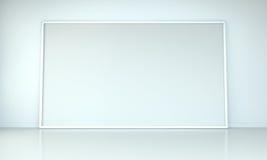 Tolkning för kanfas 3D för vit tom Royaltyfria Foton