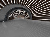 Tolkning för korridor 3D royaltyfri illustrationer