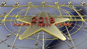 Tolkning för lyckligt nytt år 3d Royaltyfri Fotografi