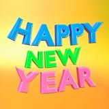 Tolkning för lyckligt nytt år 3d Royaltyfri Foto