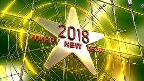 2018 tolkning för nytt år 3d Arkivbild