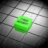 Tolkning för ordningsvakt 3d för Cybersecurity teknologi high tech stock illustrationer