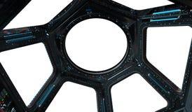 Tolkning för rymdstationfönster 3D Royaltyfria Bilder