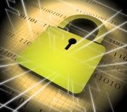 Tolkning för säkerhet 3d för Cybersecurity begreppsDigital Cyber royaltyfri illustrationer
