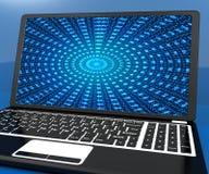 Tolkning för säkerhet 3d för Cybersecurity begreppsDigital Cyber stock illustrationer