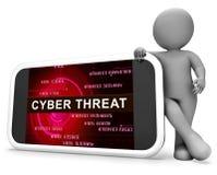 Tolkning för skydd 3d för Cyberhotintelligens online- royaltyfri illustrationer