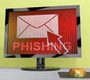 Tolkning för skydd 3d för hot för Phishing mejlinternet Royaltyfria Foton
