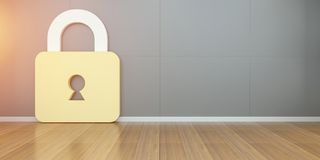 Tolkning för Smarthome säkerhet 3D Arkivfoto