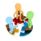 Tolkning för teamworkbegrepp 3d Arkivbild
