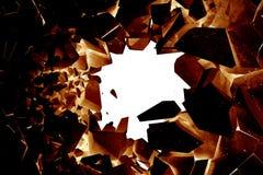 Tolkning för upplösning 3d för sprucken jordabstrakt begreppbakgrund hög, negativa effekter stock illustrationer