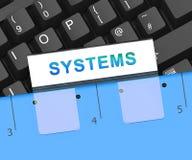 Tolkning för växelverkan 3d för Bot för fysiska system för Cyber vektor illustrationer