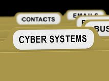 Tolkning för växelverkan 3d för Bot för fysiska system för Cyber royaltyfri illustrationer
