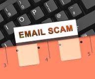 Tolkning för varning 3d för Phishing Scam Emailidentitet Arkivbilder