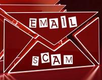 Tolkning för varning 3d för Phishing Scam Emailidentitet Arkivfoto