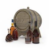 Tolkning för vinflaska 3d Royaltyfri Bild