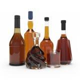 Tolkning för vinflaska 3d Fotografering för Bildbyråer