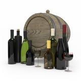 Tolkning för vinflaska 3d Arkivbild