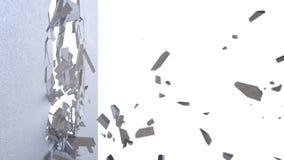tolkning knäckt abstrakt begreppbakgrund för jord 3d med ljusa strålar för volym lager videofilmer