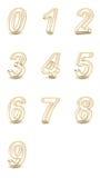 tolkningen 3D av genomskinligt numrerar. Royaltyfria Foton