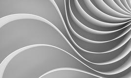 tolkningen 3d buktade abstrakt begrepp på vit bakgrund, illustration Royaltyfri Bild